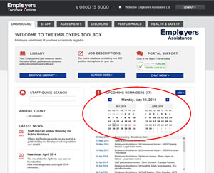 Employers Toolbox Dashboard
