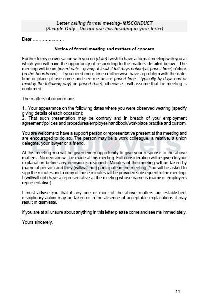 staff discipline and dismissal