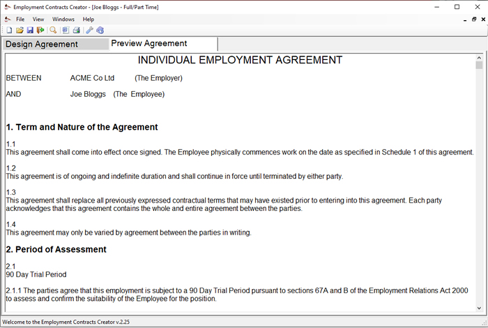 Employment Contract Template Builder - Download Online