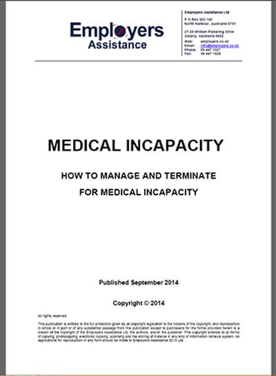 Sample Letter Of Incapacity