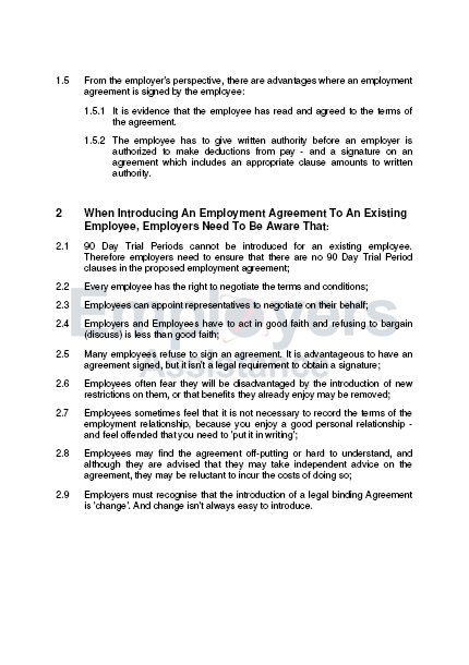 Introducing Employment Agreements